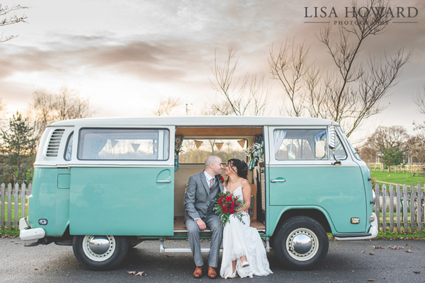 VW campervan wedding Charnock Farm